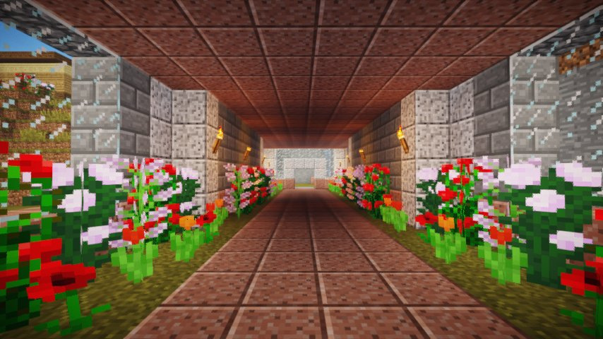 Flower tunnel because Caby's gay and soft (and MINE)