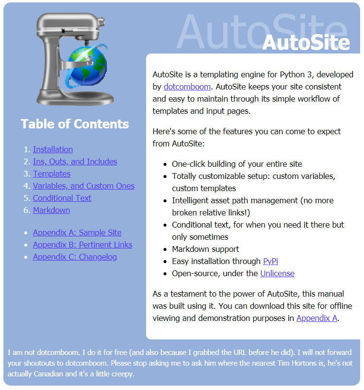 autosite on Neocities