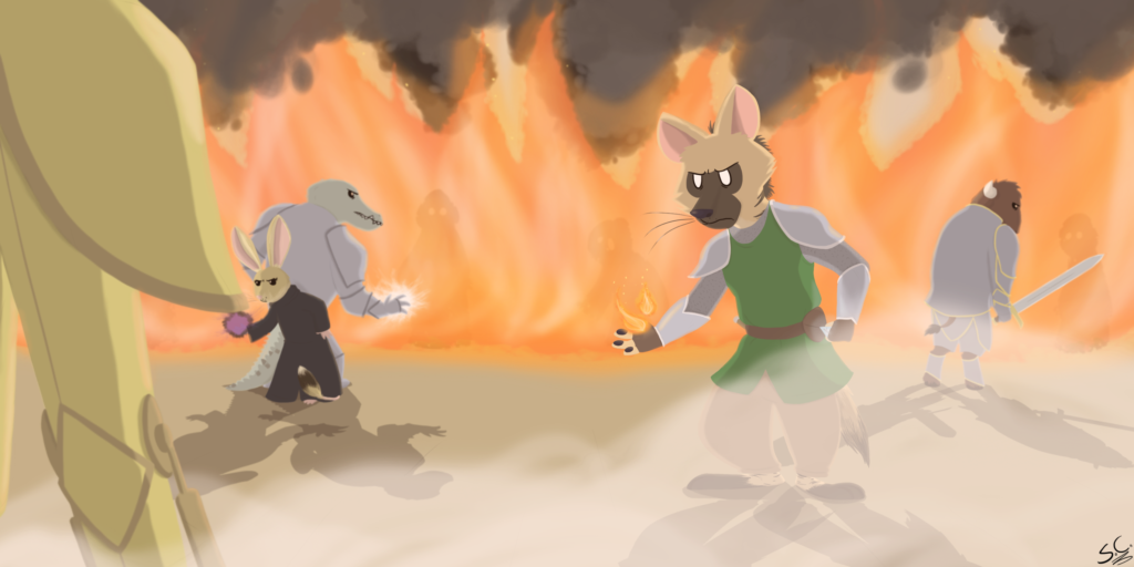 A scene from RoccoQuest 2, an old Calelira-based roleplay