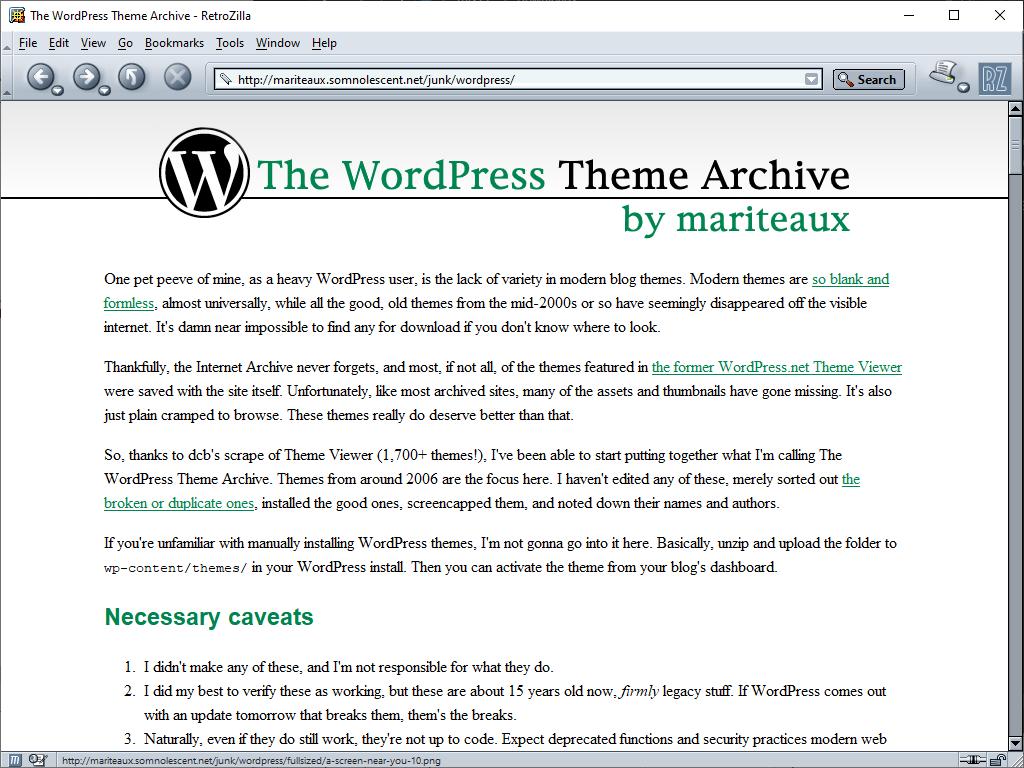 The WordPress Theme Archive