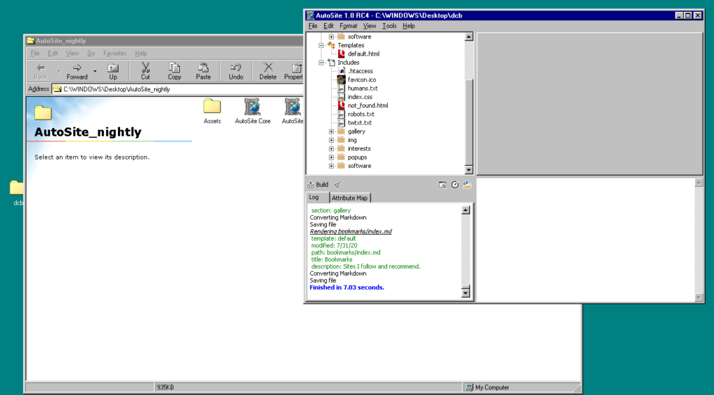 AutoSite RC4 on Windows 98