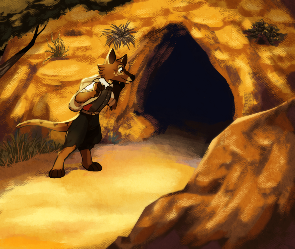 The Sophius Art Fight! 2020 drawing after optimization