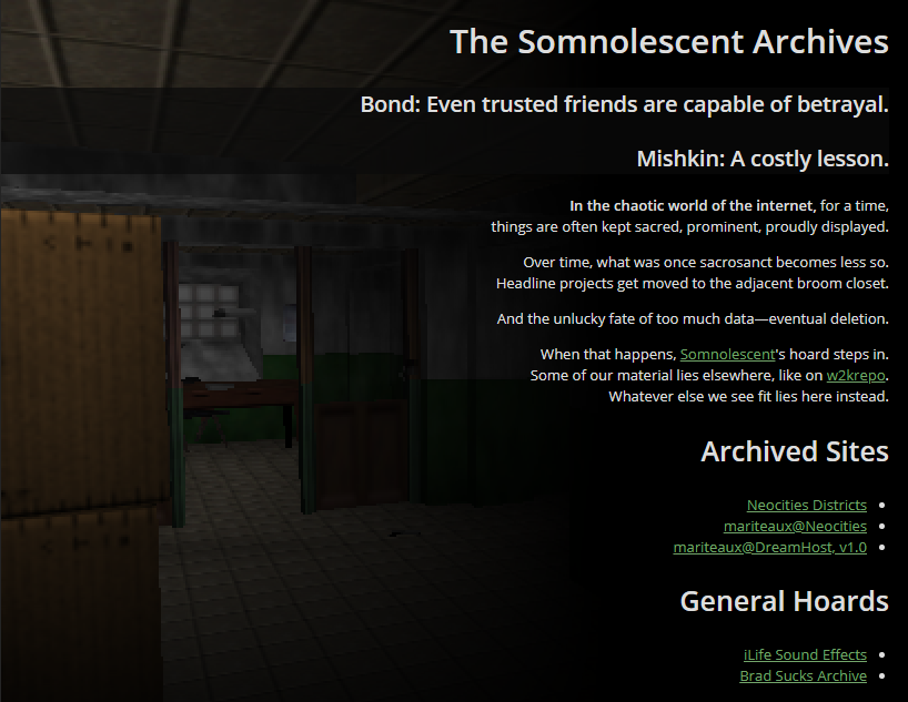 The Somnolescent Archives