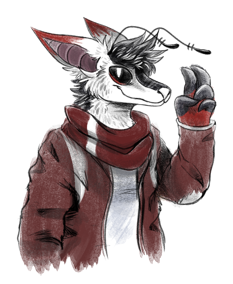 A realistic Polaris in a worn jacket
