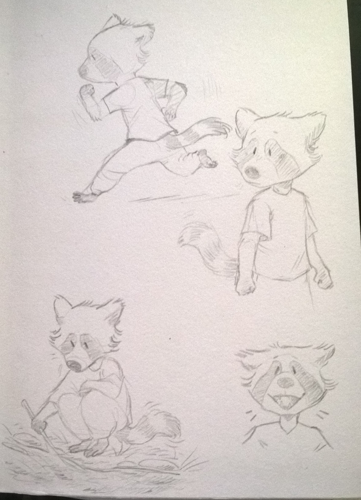 More traditional Caby doodles of Colton