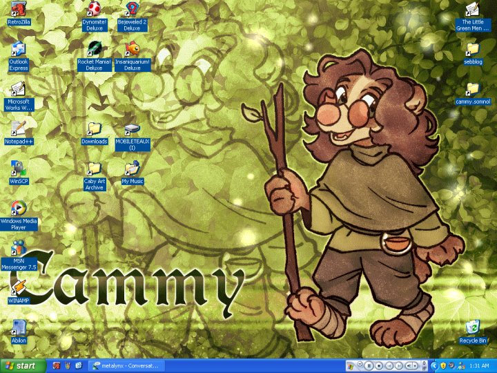Cammy's retro desktop