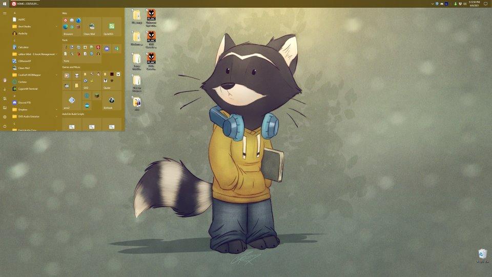 Cammy's main desktop