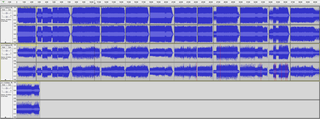 Comparing the waveforms between two different mixes of this Brad Sucks album