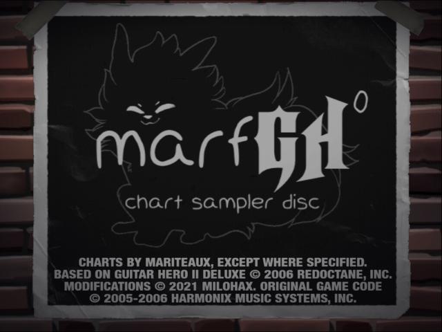 The splash screen to marfGH: Volume 0