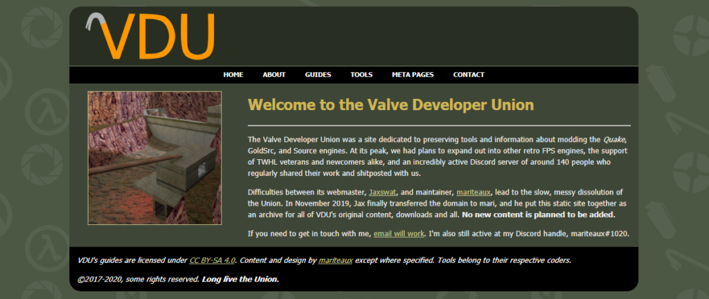 The new, final Valve Developer Union site